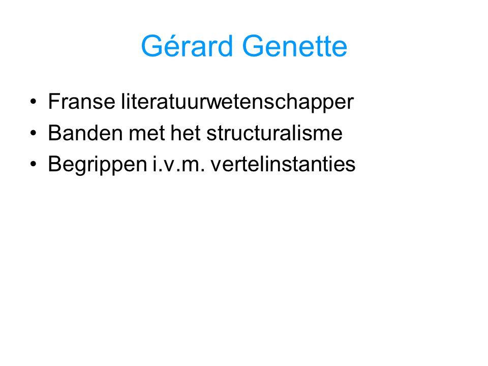 Gérard Genette Franse literatuurwetenschapper