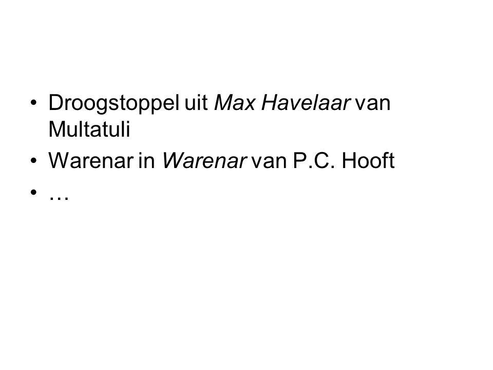 Droogstoppel uit Max Havelaar van Multatuli