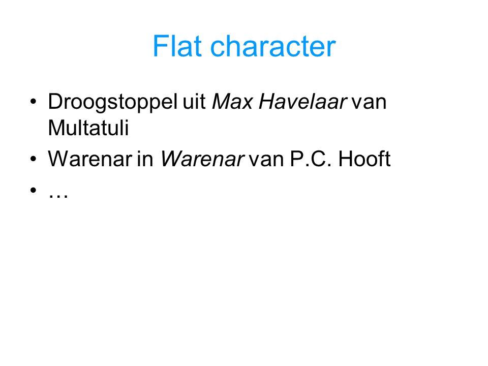 Flat character Droogstoppel uit Max Havelaar van Multatuli