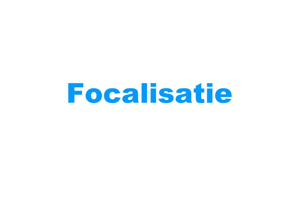 Focalisatie