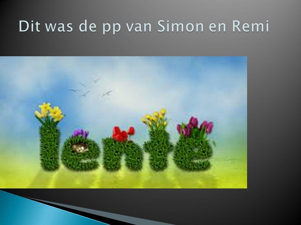 Dit was de pp van Simon en Remi