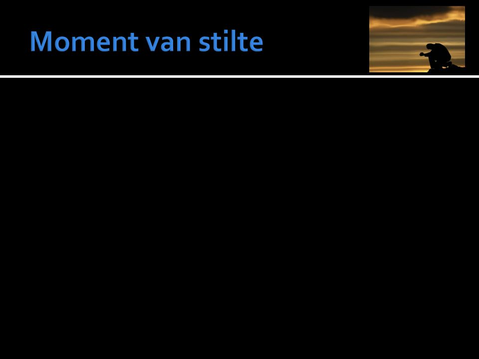 Moment van stilte