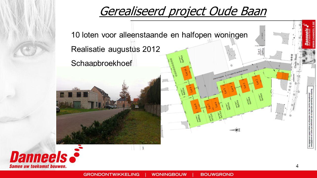 Gerealiseerd project Oude Baan