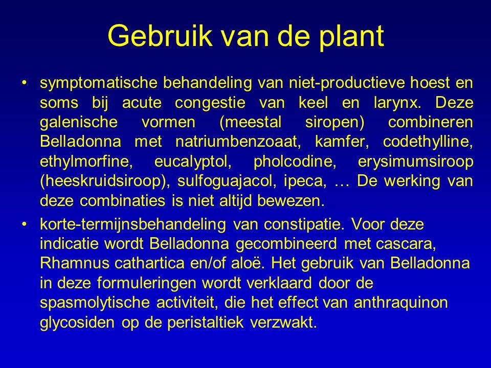 Gebruik van de plant