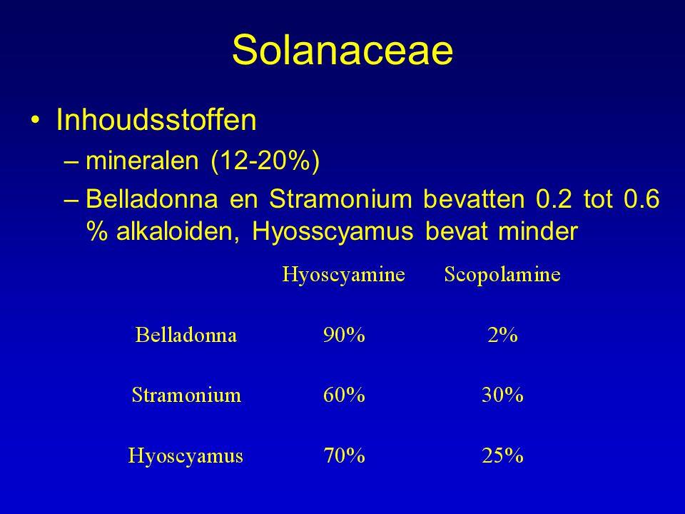 Solanaceae Inhoudsstoffen mineralen (12-20%)