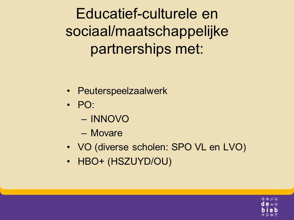 Educatief-culturele en sociaal/maatschappelijke partnerships met: