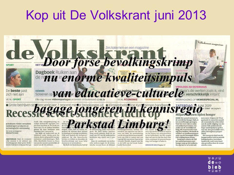 Kop uit De Volkskrant juni 2013