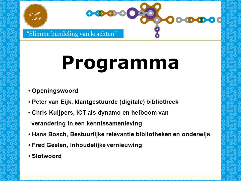 Programma Openingswoord