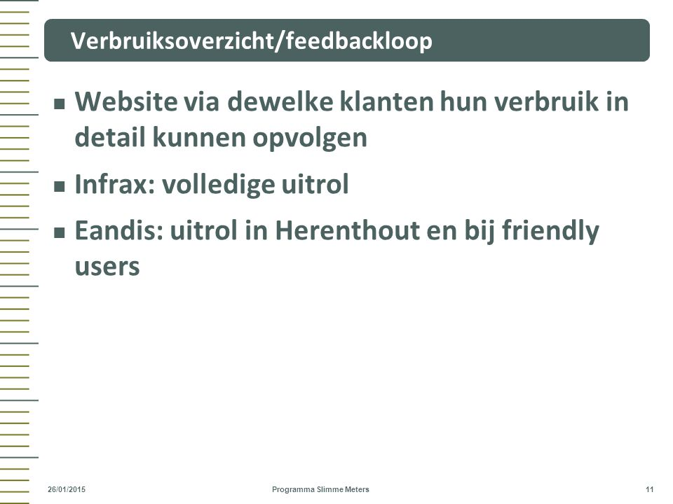 Verbruiksoverzicht/feedbackloop