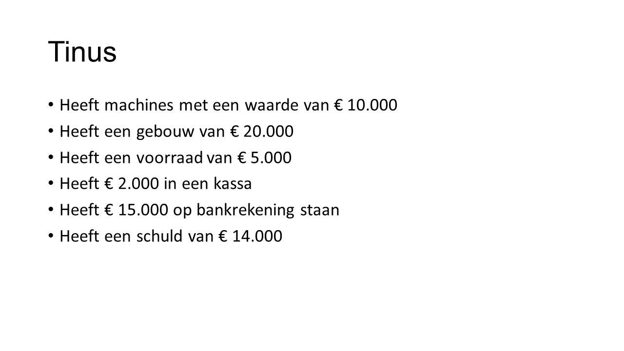 Tinus Heeft machines met een waarde van € 10.000
