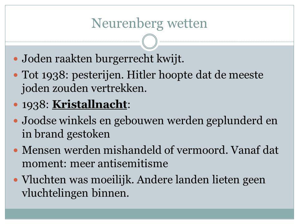 Neurenberg wetten Joden raakten burgerrecht kwijt.