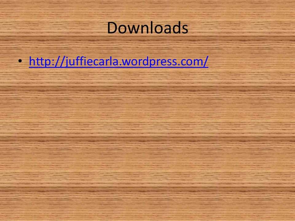 Downloads http://juffiecarla.wordpress.com/