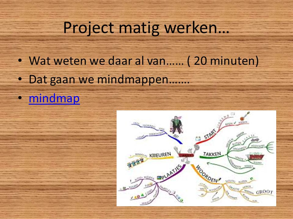 Project matig werken… Wat weten we daar al van…… ( 20 minuten)