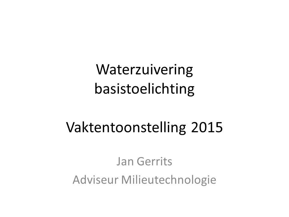 Waterzuivering basistoelichting Vaktentoonstelling 2015