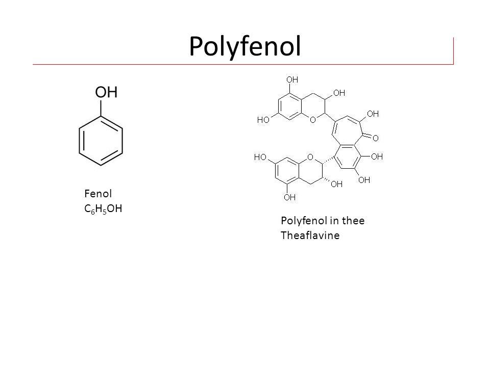 Polyfenol Fenol C6H5OH Polyfenol in thee Theaflavine