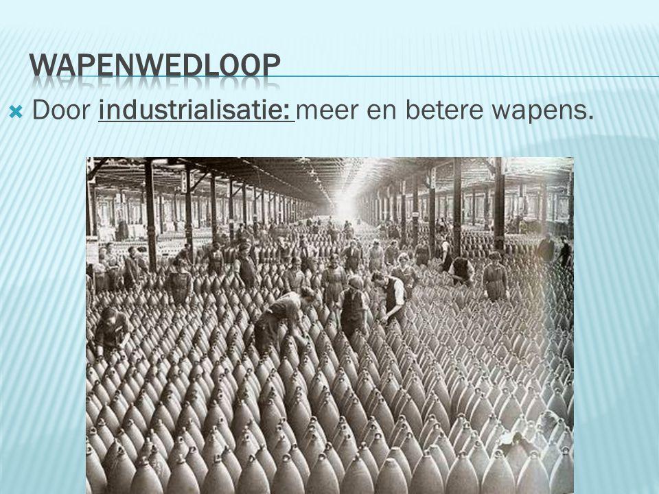 Wapenwedloop Door industrialisatie: meer en betere wapens.