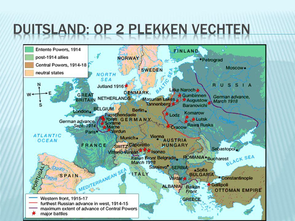 Duitsland: op 2 plekken vechten