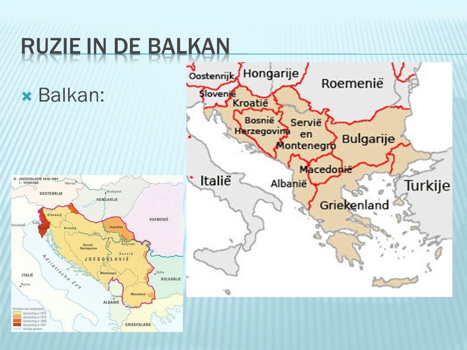 Ruzie in de Balkan Balkan: