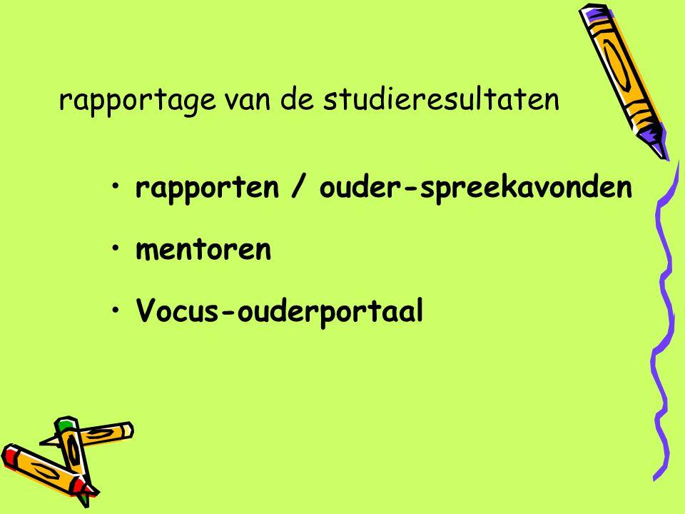 rapportage van de studieresultaten
