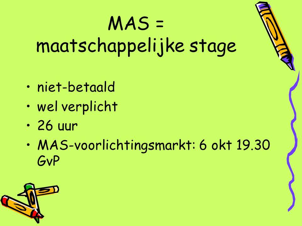 MAS = maatschappelijke stage