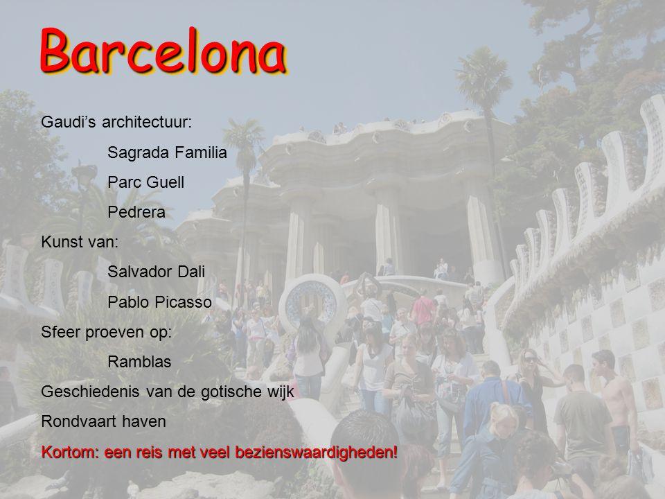 Barcelona Gaudi's architectuur: Sagrada Familia Parc Guell Pedrera