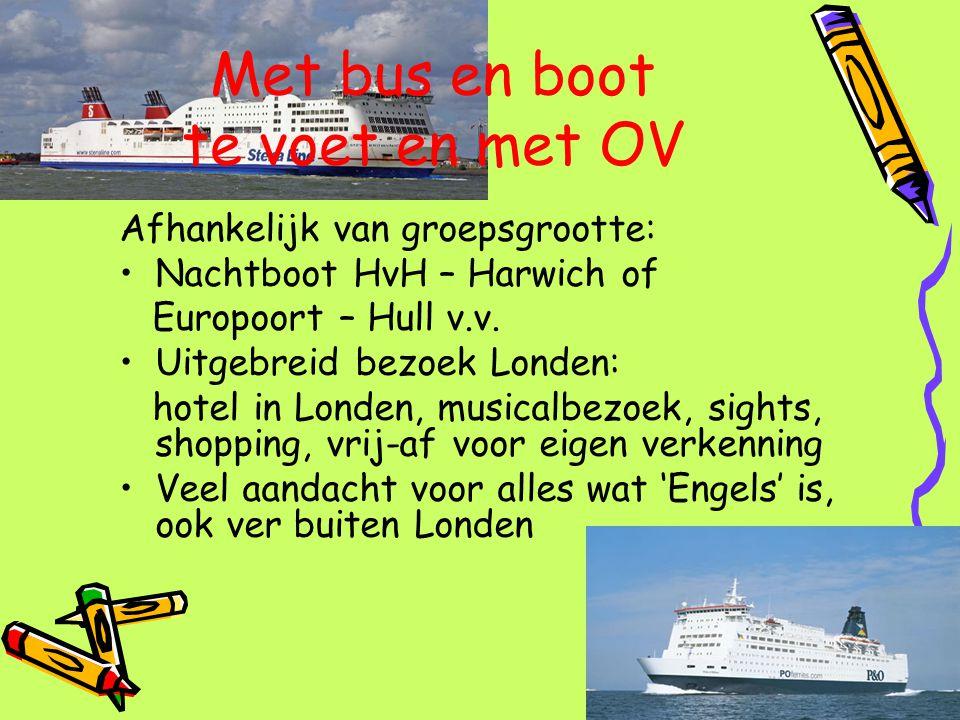Met bus en boot te voet en met OV