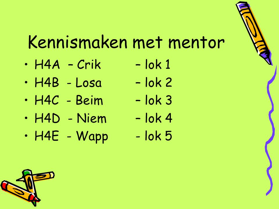 Kennismaken met mentor