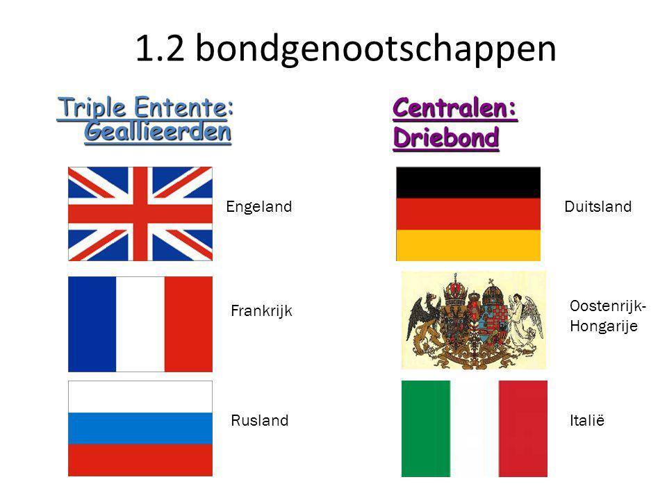 Triple Entente: Geallieerden