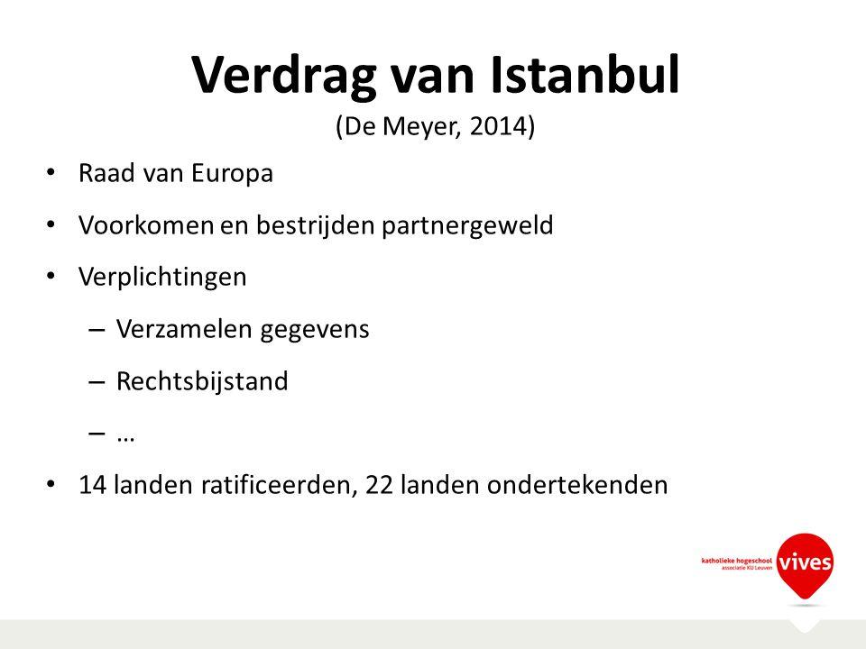 Verdrag van Istanbul (De Meyer, 2014) Raad van Europa