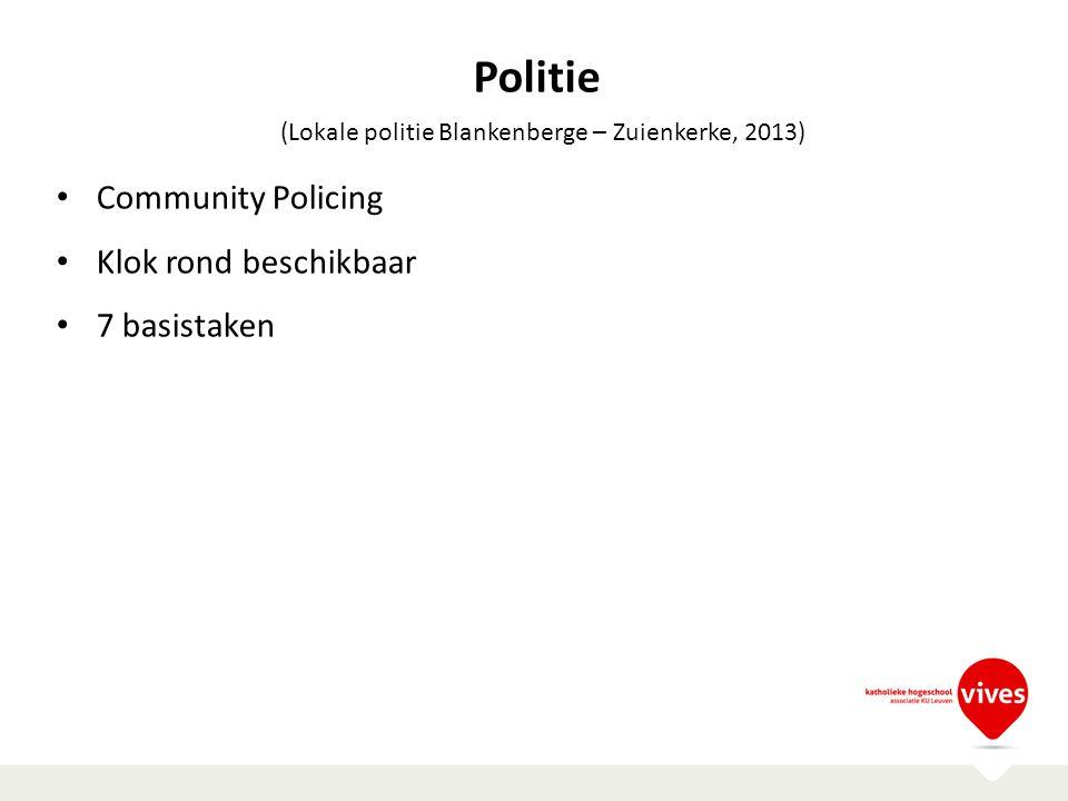 Politie Community Policing Klok rond beschikbaar 7 basistaken