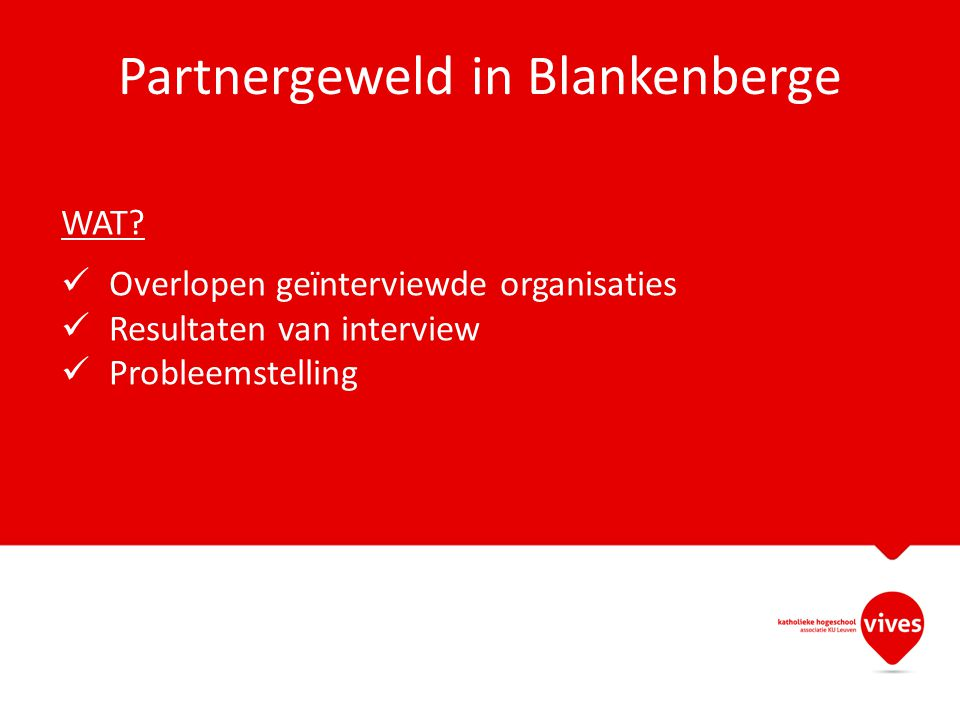 Partnergeweld in Blankenberge