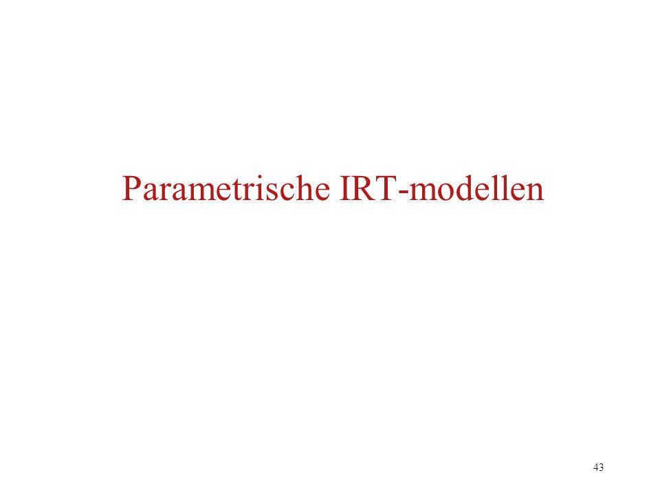 Parametrische IRT-modellen