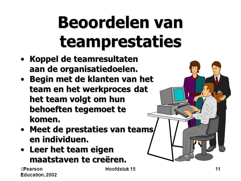 Beoordelen van teamprestaties
