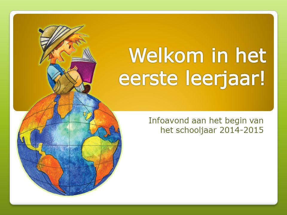 Welkom in het eerste leerjaar!
