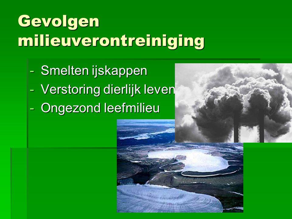 Gevolgen milieuverontreiniging