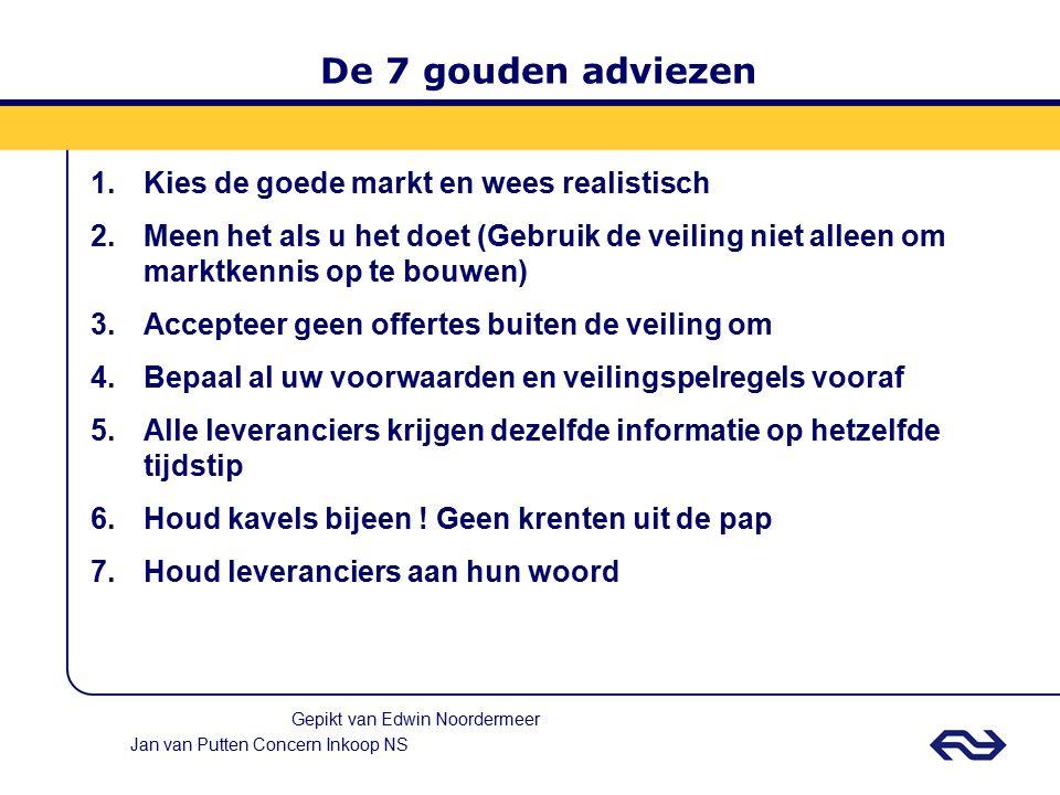 De 7 gouden adviezen Kies de goede markt en wees realistisch