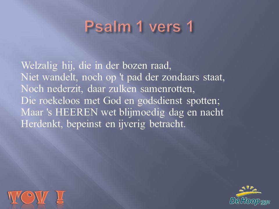 Psalm 1 vers 1