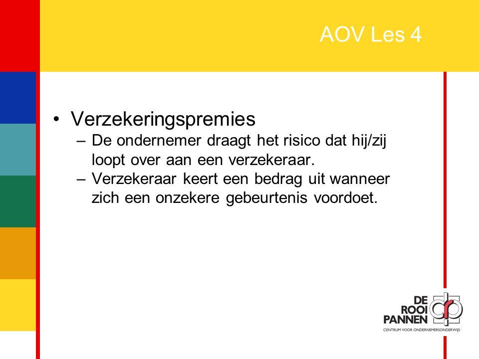 AOV Les 4 Verzekeringspremies