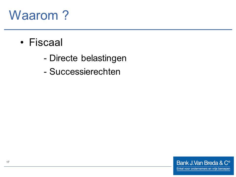 Waarom Fiscaal - Directe belastingen - Successierechten