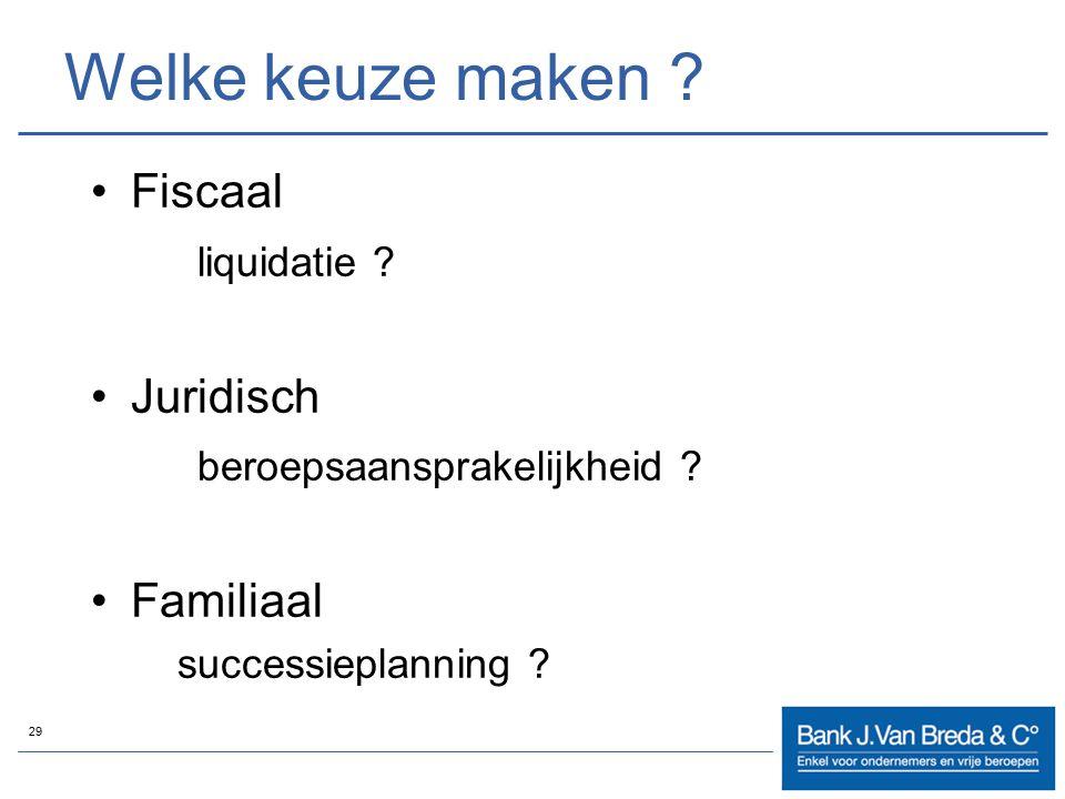 Welke keuze maken Fiscaal liquidatie Juridisch