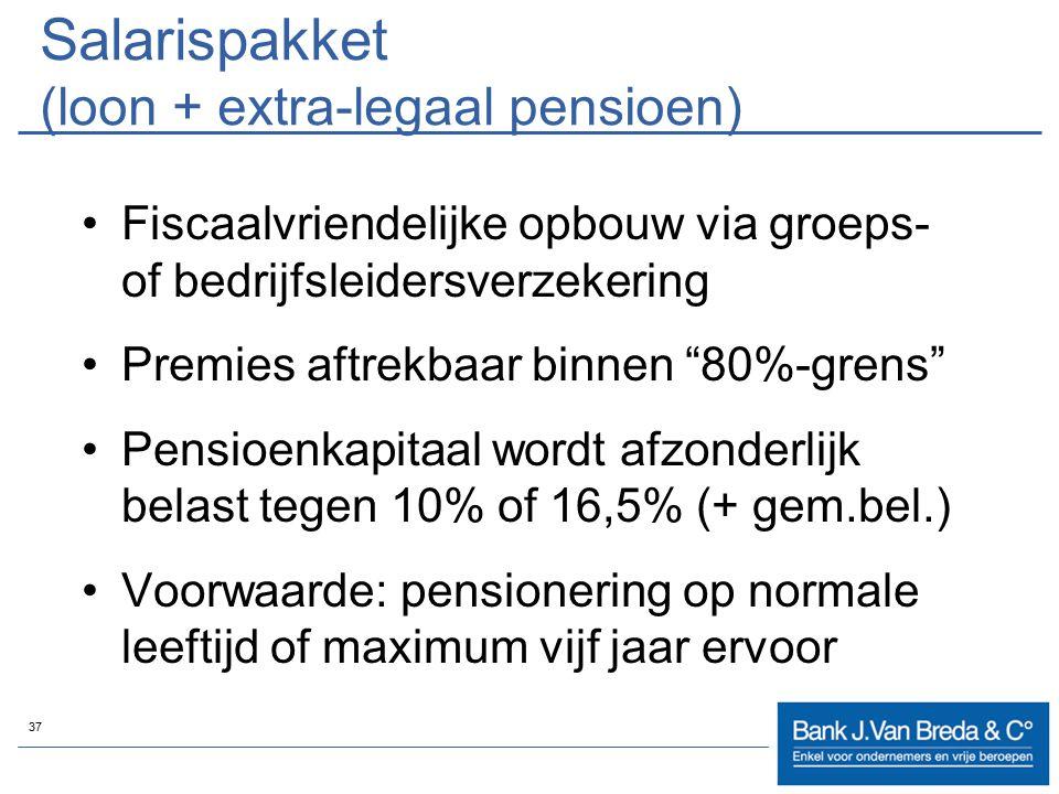 Salarispakket (loon + extra-legaal pensioen)