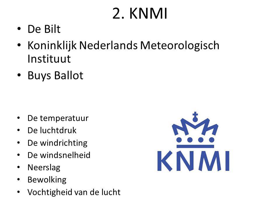 2. KNMI De Bilt Koninklijk Nederlands Meteorologisch Instituut
