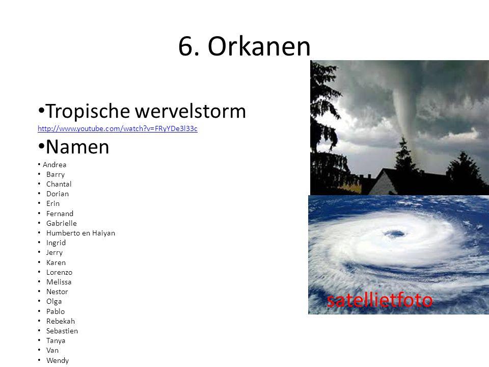 6. Orkanen Tropische wervelstorm Namen satellietfoto