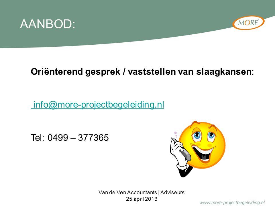 Van de Ven Accountants | Adviseurs