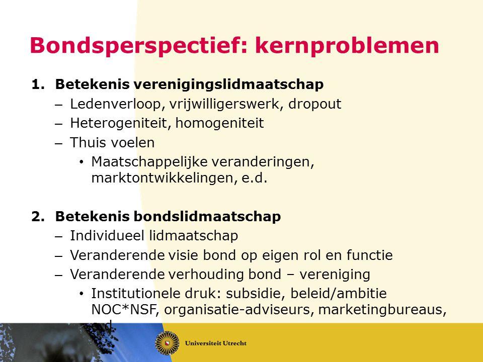 Bondsperspectief: kernproblemen
