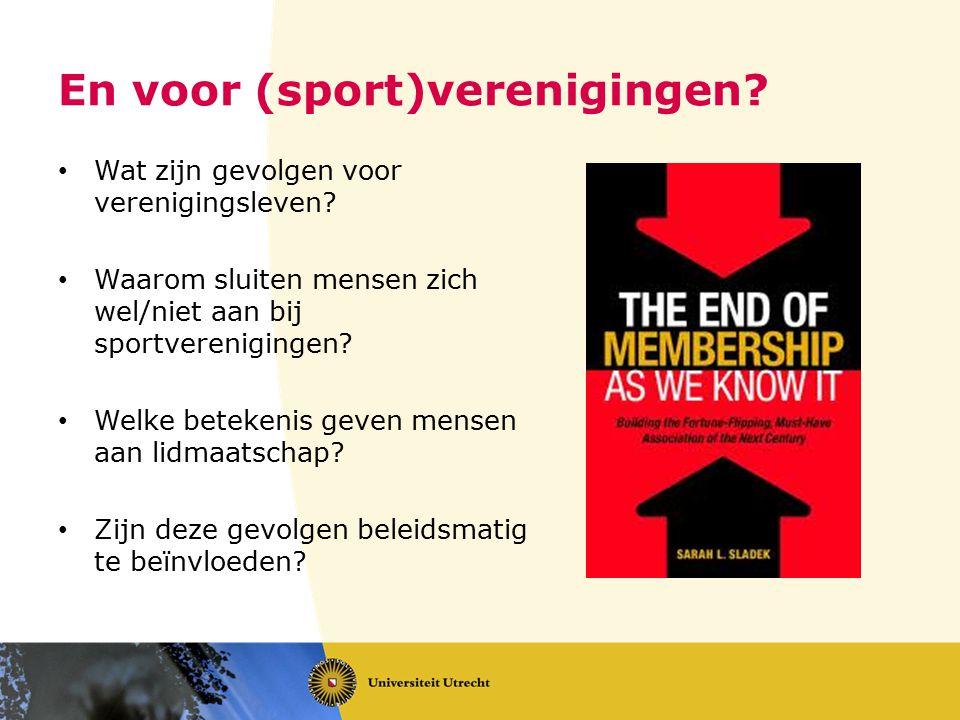 En voor (sport)verenigingen