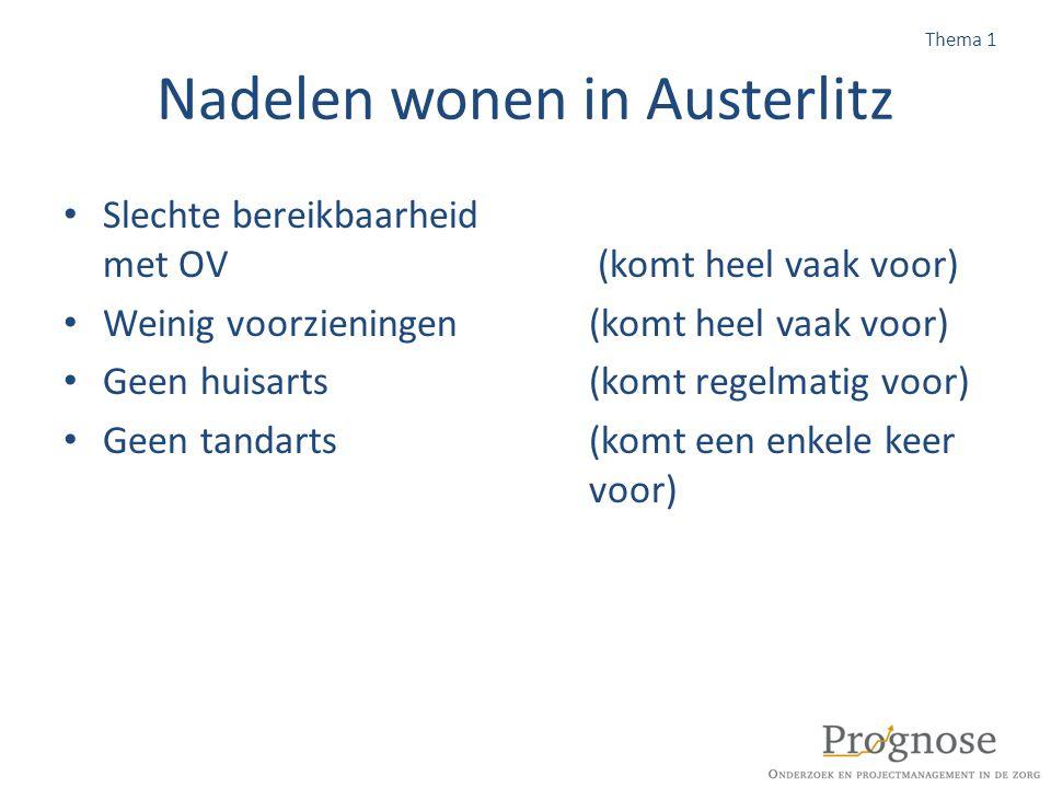Nadelen wonen in Austerlitz