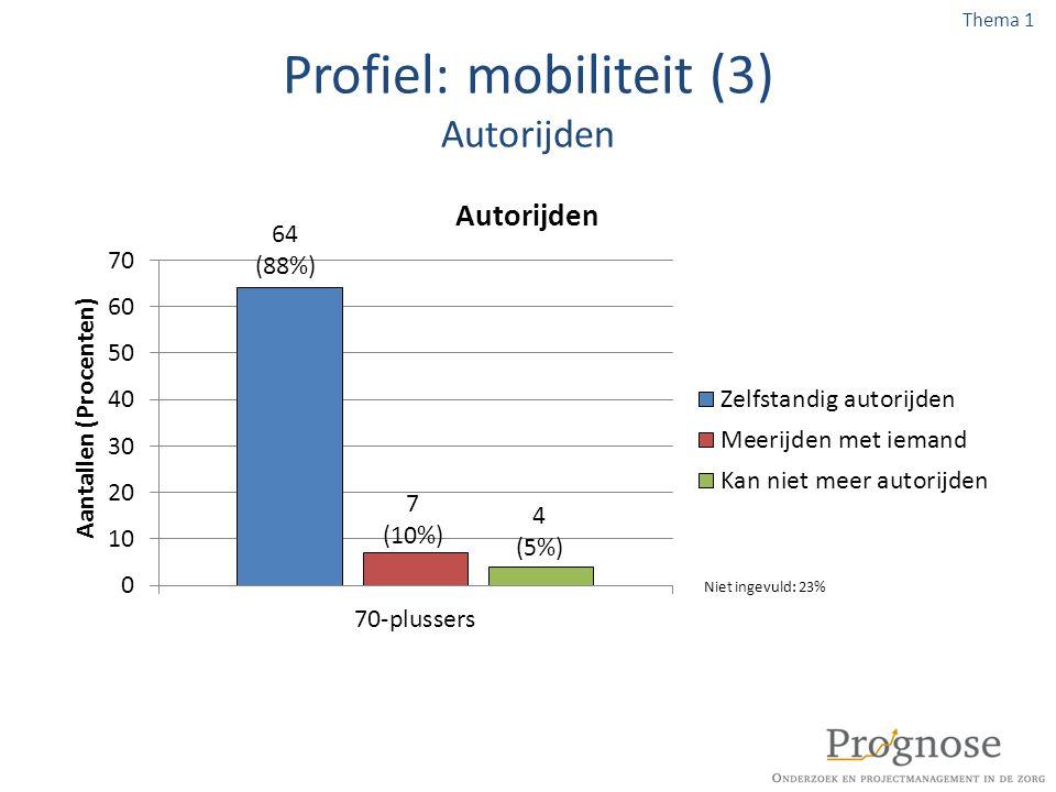 Profiel: mobiliteit (3) Autorijden