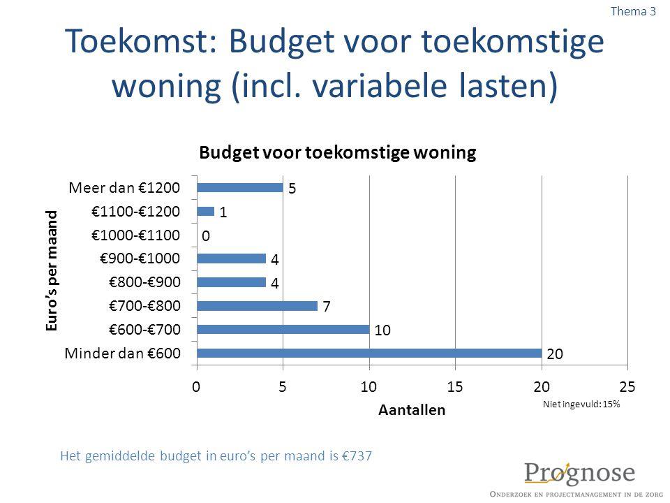 Toekomst: Budget voor toekomstige woning (incl. variabele lasten)