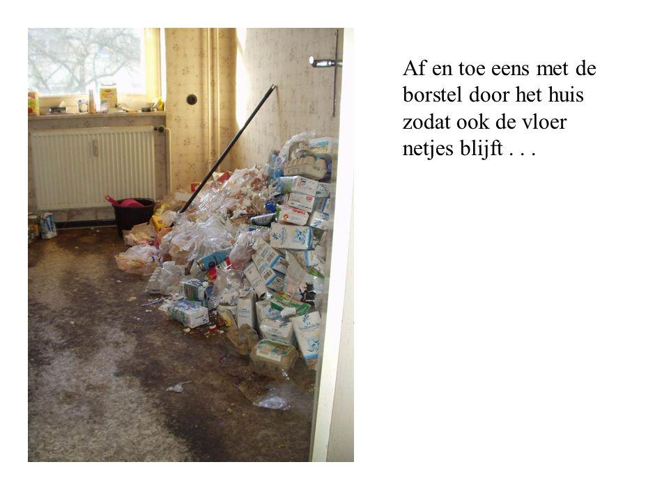 Af en toe eens met de borstel door het huis zodat ook de vloer netjes blijft . . .